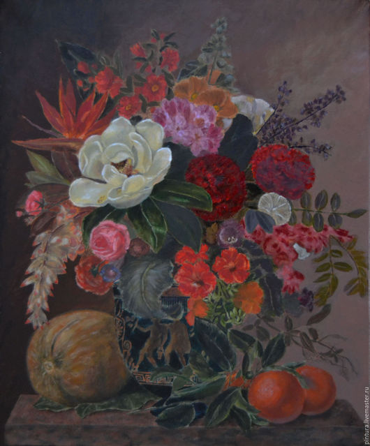 Картины цветов ручной работы. Ярмарка Мастеров - ручная работа. Купить Голландский букет. Handmade. Коричневый, цветы, голландские мастера