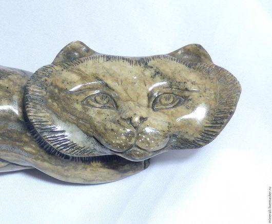 """Статуэтки ручной работы. Ярмарка Мастеров - ручная работа. Купить фигурка кота """"Давили"""". Handmade. Коричневый, сувенир кот"""