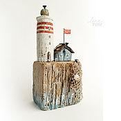 Сувениры и подарки ручной работы. Ярмарка Мастеров - ручная работа `Маячок` домик с маяком, островок, дрифтвуд-арт. Handmade.