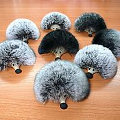 Сувениры и подарки handmade. Livemaster - original item hedgehog fur 1 (on the magnet). Handmade.