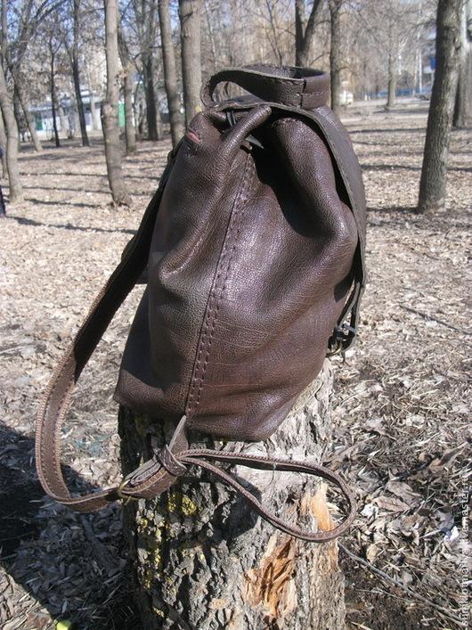 Рюкзаки ручной работы. Ярмарка Мастеров - ручная работа. Купить Рюкзак). Handmade. Коричневый, рюкзак кожаный, сумка мужская