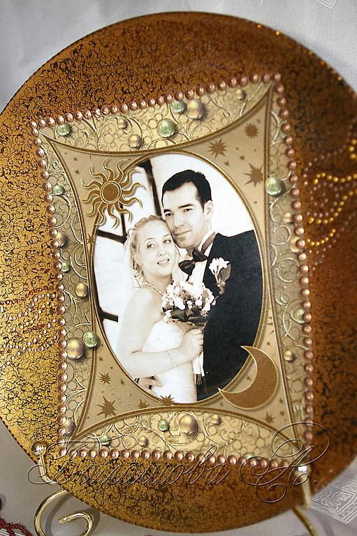 Подарки на свадьбу ручной работы. Ярмарка Мастеров - ручная работа. Купить Декоративная тарелка с Вашей фотографией. Handmade. оригинальный подарок