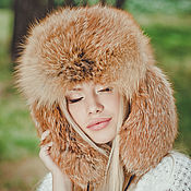 Аксессуары handmade. Livemaster - original item Real fox fur hat