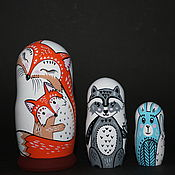 Русский стиль handmade. Livemaster - original item Matryoshka Forest Families. Handmade.