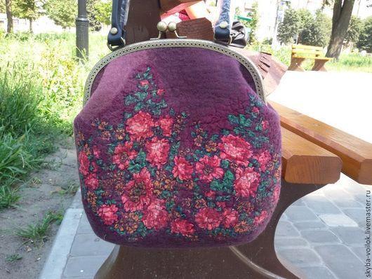 СУМКА.Валяная сумка.ярмарка мастеров. Купить валяную сумку. Винный, марсала, сливовый. Купить подарок женщине. Подарок девушке женщине. Повседневная сумка. сумка валяная.женская сумка