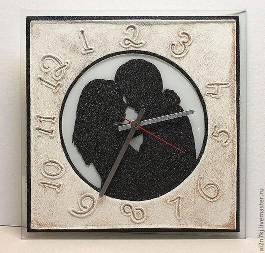 """Подарки для влюбленных ручной работы. Ярмарка Мастеров - ручная работа. Купить """"СЧАСТЛИВЫЕ ЧАСОВ НЕ НАБЛЮДАЮТ..."""" из песка часы авторские. Handmade."""