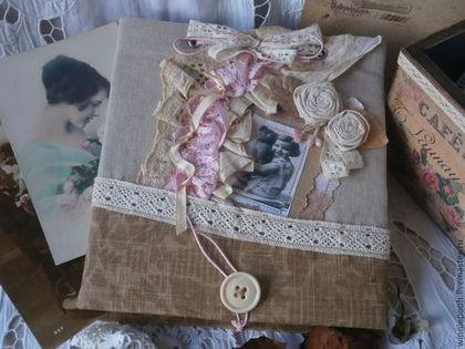 Блокноты ручной работы. Ярмарка Мастеров - ручная работа. Купить Блокнот Старые цветы. Handmade. Бежевый, альбом для пожеланий, для записей