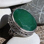 Украшения handmade. Livemaster - original item The Royal ring (a ring) with an emerald