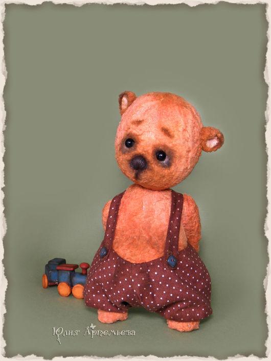 Мишки Тедди ручной работы. Ярмарка Мастеров - ручная работа. Купить Мишка тедди Валерка. Handmade. Оранжевый, авторская игрушка