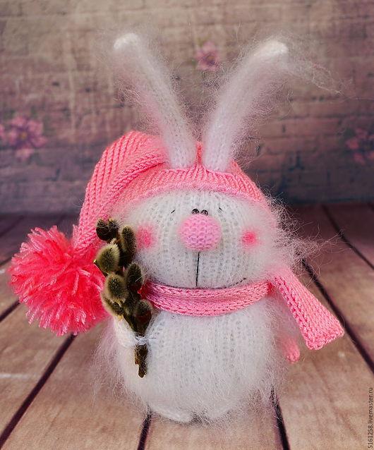 Миниатюра ручной работы. Ярмарка Мастеров - ручная работа. Купить Пасхальный кролик вязаный заяц игрушка амигуруми зайцы. Handmade.