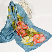 Scarves handmade. Livemaster - original item Silk scarf the rose Hips. Handmade.