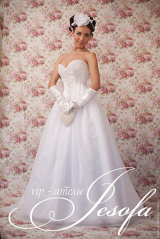 Одежда и аксессуары ручной работы. Ярмарка Мастеров - ручная работа. Купить Свадебное платье с жемчугом. Handmade. Белый, свадебное платье