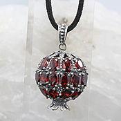 Украшения handmade. Livemaster - original item Garnet pendant with garnets made of 925 GA0047 silver. Handmade.