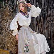 handmade. Livemaster - original item Women`s ethno-style costume with hand embroidery