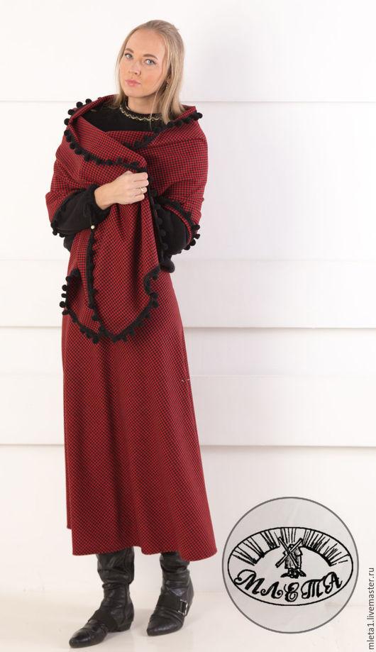 Юбки ручной работы. Ярмарка Мастеров - ручная работа. Купить шерстяная юбка и палантин в красно-черную клетку. Handmade.