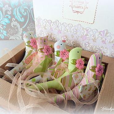 Куклы и игрушки ручной работы. Ярмарка Мастеров - ручная работа Набор из 5 птичек Тильда. Handmade.