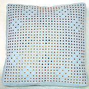 Для дома и интерьера ручной работы. Ярмарка Мастеров - ручная работа Подушка квадратная со стразами. Handmade.