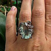 Украшения handmade. Livemaster - original item Author`s ring made of silver with natural fluorite, p. 17,5. Handmade.