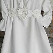 Работы для детей, ручной работы. Ярмарка Мастеров - ручная работа крестильное платье  ГЛАША. Handmade.