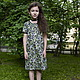 Одежда для девочек, ручной работы. Заказать Платье с ежевикой. Vera Olshvang. Ярмарка Мастеров. Ягоды, фонарики, хлопок 100%