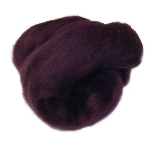 Валяние ручной работы. Ярмарка Мастеров - ручная работа. Купить Меринос 18 мк, Италия - цвет Пурпур. Handmade.