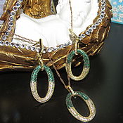 "Украшения handmade. Livemaster - original item Set ""Sleep angel"" from 925 sterling silver with gold. Handmade."