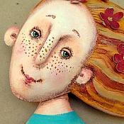 """Куклы и игрушки ручной работы. Ярмарка Мастеров - ручная работа текстильная грунтованная кукла """"Весна"""". Handmade."""