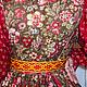 """Одежда ручной работы. Костюм с сарафаном  """"на лифе или полуплатье"""" - Костюм истории.. Лоскутный Дом (Elenat1906). Ярмарка Мастеров."""