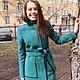 Верхняя одежда ручной работы. Пальто Malachite 2. Oksana Vadyun. Интернет-магазин Ярмарка Мастеров. Однотонный, кашемировое пальто