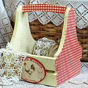 Basket handmade. Livemaster - original item Stand for eggs, onions, garlic village Petushki. Handmade.
