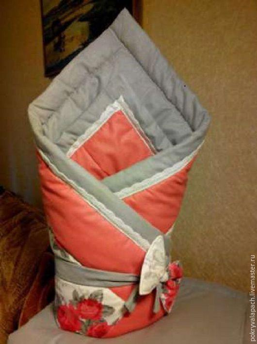 Пледы и одеяла ручной работы. Ярмарка Мастеров - ручная работа. Купить Конверт для малыша). Handmade. Комбинированный, одеяло для новорожденного