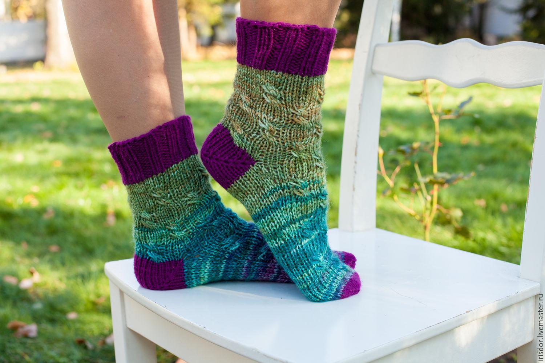 Носки вязаные, ручная работа, носки яркие, носки домашние, носки женские, носки теплые, носки шерстяные, женские носки, теплые носки, шерстяные носки, вязаные носки, носки ручной работы, носки ручной