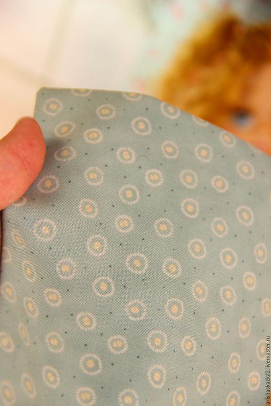 Куклы и игрушки ручной работы. Ярмарка Мастеров - ручная работа. Купить Ткань хлопок № 130 для кукольной одежды . Ткань для кукол. Handmade.