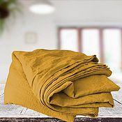 Для дома и интерьера handmade. Livemaster - original item Mustard Linen Sheets. Bed linen. Handmade.