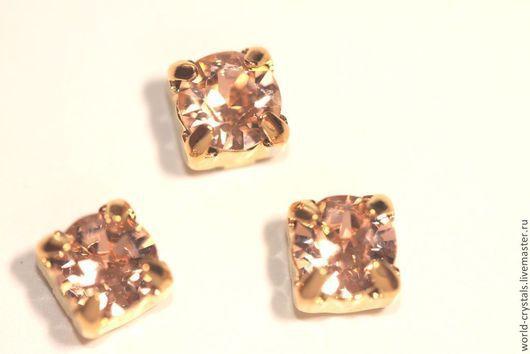 Кристаллы № 362 Lt. Peach. Ювелирные касты под золото.