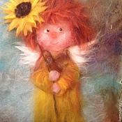 Картины и панно ручной работы. Ярмарка Мастеров - ручная работа Солнечный ангел с солнечным цветком. Handmade.