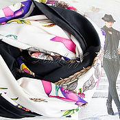 """Аксессуары handmade. Livemaster - original item Натуральный шелковый платок из ткани GUCCI """"Цветочное настроение"""". Handmade."""