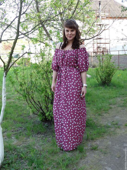 Платья ручной работы. Ярмарка Мастеров - ручная работа. Купить платье летнее из штапеля в деревенском стиле Лёгкая прохлада. Handmade.