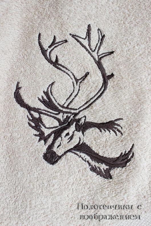 Ванная комната ручной работы. Ярмарка Мастеров - ручная работа. Купить Северный олень . Охотнику за полотенцами.. Handmade. Бежевый