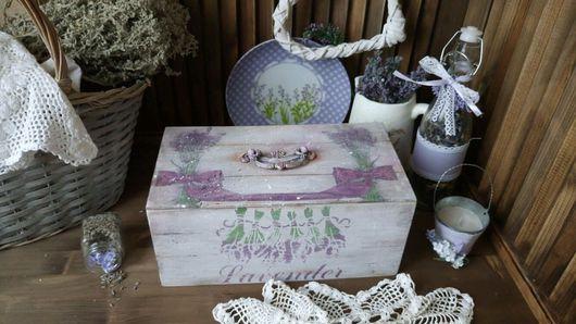 """Корзины, коробы ручной работы. Ярмарка Мастеров - ручная работа. Купить """"Lavender"""" Короб.. Handmade. Короб для хранения, лаванда"""