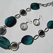 Украшения handmade. Livemaster - original item Set of beads and earrings,