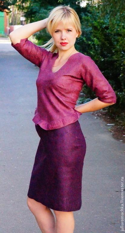 """Платья ручной работы. Ярмарка Мастеров - ручная работа. Купить валяное платье """"purple dream"""". Handmade. Фиолетовый, нуновойлок"""