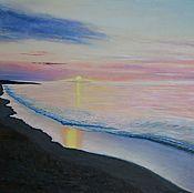 """Картины и панно ручной работы. Ярмарка Мастеров - ручная работа Картина """"Розовый закат"""". Handmade."""