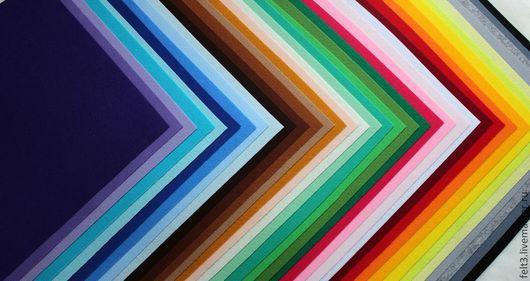 Другие виды рукоделия ручной работы. Ярмарка Мастеров - ручная работа. Купить Набор жесткого фетра . 36 цветов.. Handmade.