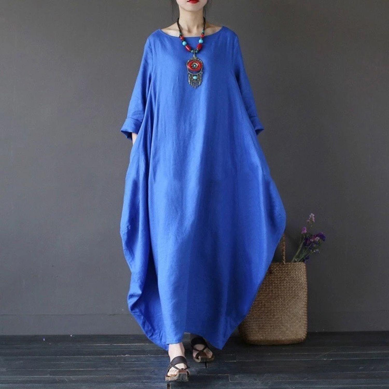 Платье Бохо Голубое