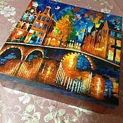 """Для дома и интерьера ручной работы. Ярмарка Мастеров - ручная работа Короб """"В Амстердаме"""". Handmade."""