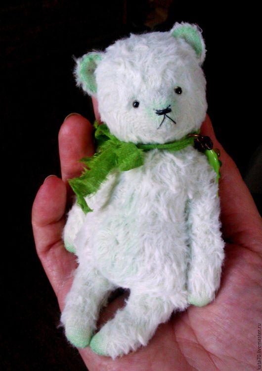 Мишки Тедди ручной работы. Ярмарка Мастеров - ручная работа. Купить МИШУТКА ГОРОШЕК. Handmade. Мятный, мишка, мишутка