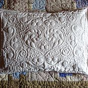 "Для дома и интерьера handmade. Livemaster - original item White, quilted pillowcase ""Sweet Dream"". Handmade."