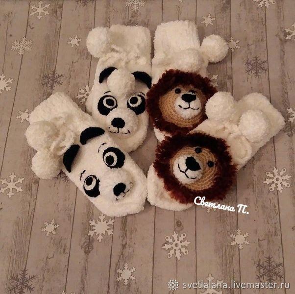 Suroweicki - Panda, lion (made to measure), Mittens, Belgorod,  Фото №1