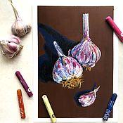 Картины ручной работы. Ярмарка Мастеров - ручная работа Картины: Нескучный чеснок. Handmade.